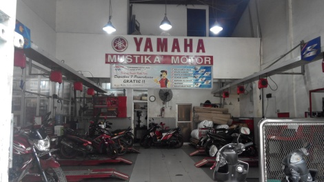 Area Service Bengkel Resmi Yamaha Mustika Motor
