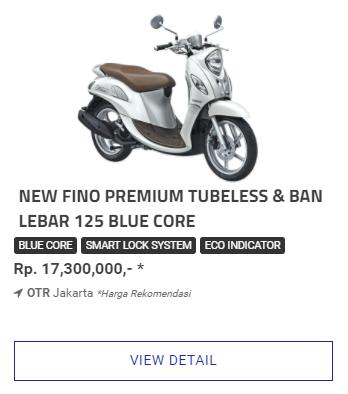 Kredit Motor Yamaha Fino 125 Blue Core