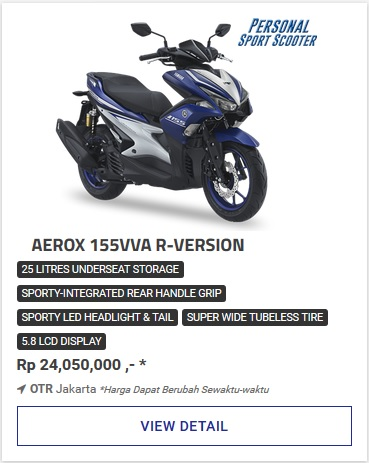Kredit Motor Yamaha Aerox 155Vva R Version