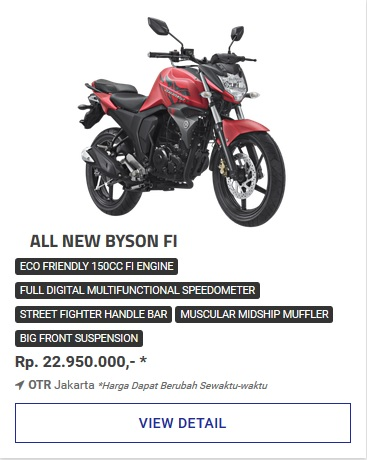 Kredit Motor Yamaha All New Byson Fi