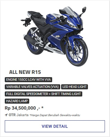 Kredit Motor Yamaha All New R15