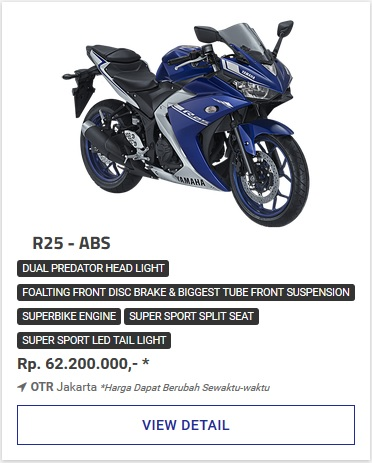 Kredit Motor Yamaha All New R25 Abs