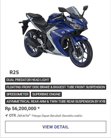 Kredit Motor Yamaha All New R25