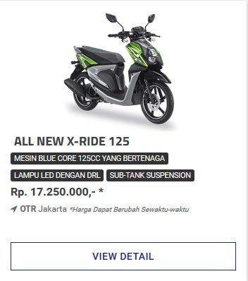 Kredit Motor Yamaha All New Xride