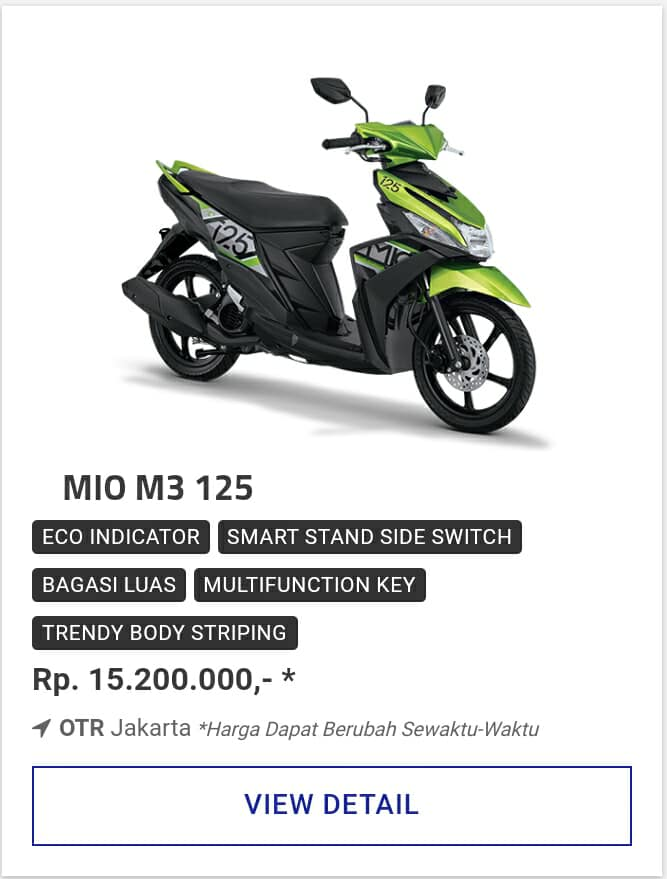 Kredit Motor Yamaha Mio M3 125 Promo Motor Yamaha Diskon Dp Besar
