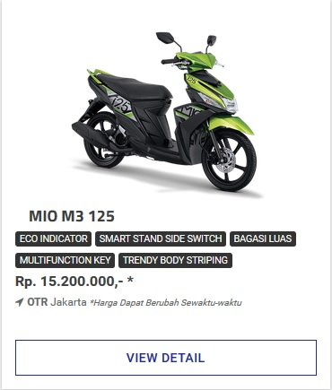 Kredit Motor Yamaha Mio M3 125