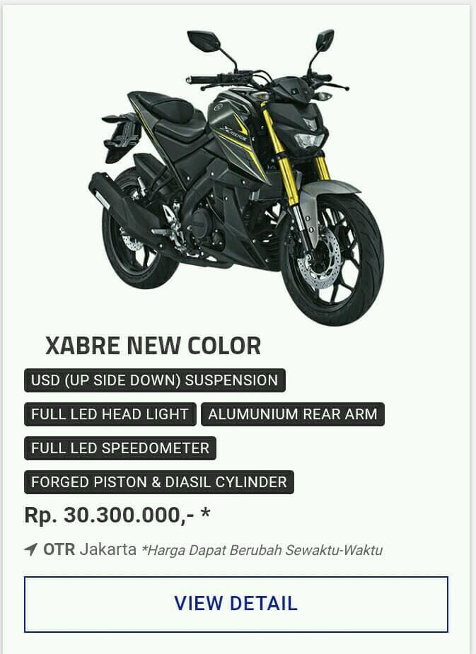 Kredit Motor Yamaha Xabre 150 Promo Motor Yamaha Diskon Dp Besar
