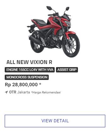 Harga Terbaik Kredit Motor Yamaha All New Vixion R