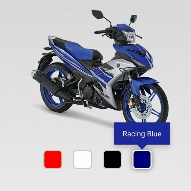 kredit motor yamaha Mx King 150 biru