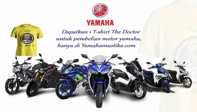 Hadian Langsung Kaos Valentino Rossi Untuk Kredit Motor Yamaha