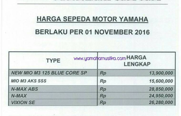 harga on the road yamana nmax terbaru november 2016.jpg