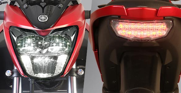 LED Head Light dan Tail Light Yamaha All New Vixion R