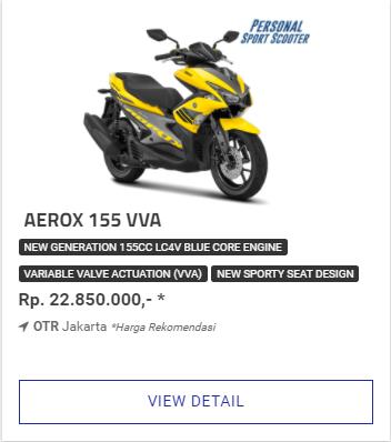 Kredit Motor Yamaha Aerox 155Vva Termurah