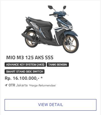 Kredit Motor Yamaha Mio M3 125 Aks Ss