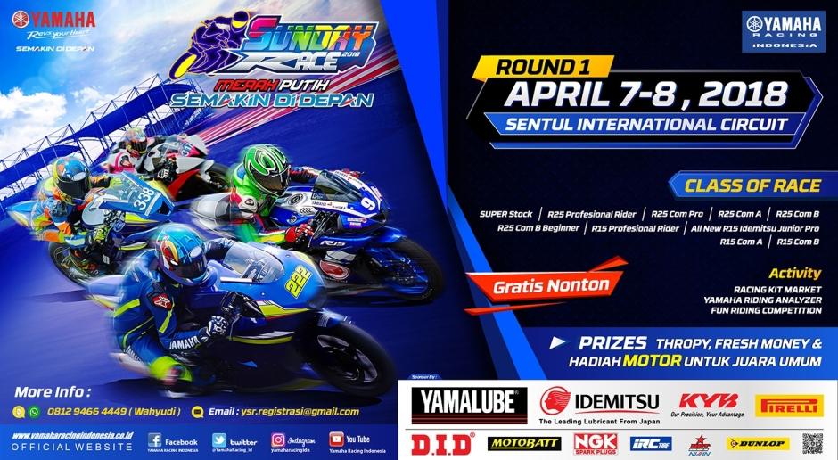 Jelang Yamaha Sunday Race 2018, Sentul (7-8 Apr): Informasi Pendaftaran dan Regulasi...